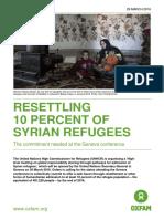 Resettling 10 Percent of Syrian Refugees