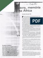 A Palavra, Memória Viva Na África