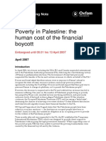 Poverty in Palestine