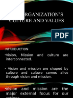 The Organization's Culture and Values