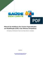 Manual de Ambiência Dos CER e Oficinas Ortopédicas - Orientações Para Elaboração de Projetos