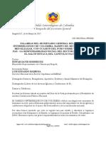 Discurso del Sec. Gral. del Cabildo Interreligioso de Colombia -16 de Marzo de 2017