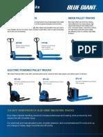Industrial Truck Overview Brochure
