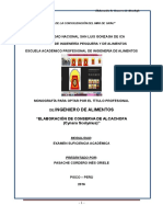 Monografía Elaboración de Conserva de Alcachofa