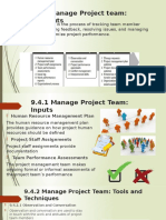9.4 Manage Project Team