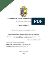 123dok Prueba Metalurgica Para Determinar El Factor Org Oro Recuperable Gravimetricamente en El Equipo Knelson Kc Md3 Con Material de Mina Del Distrito Nambija Condominio Norte