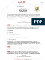 Lei Organica 1 1990 Chapeco SC