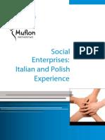 Social Enterprises - Italian and Polish Experiences