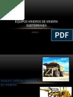 Equipos Mineros de Minería Subterranea