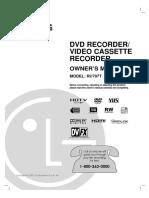DVD RECORDER/VIDEO CASSETTE RECORDER MODEL
