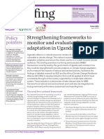 Strengthening Frameworks to Monitor and Evaluate Climate Adaptation in Uganda