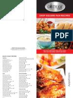 Gotham Deep Square Pan Cookbook