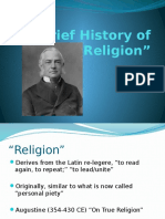 Origins of 'Religion' 18 January