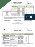 Calendario de Evaluaciones Febrero-julio 2017