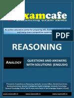 Analogy - English Practice Set 1