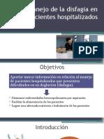 Manejo de la Disfagia en pacientes hospitalizados