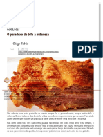 Destemperados - O Paradoxo Do Bife à Milanesa