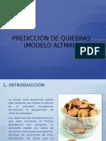 Prediccion de Quiebras (Modelo Altman)