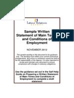 Sample Written Statement September 2012