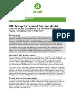 EU hotspots spread fear and doubt
