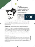 Fabelo, José R. José Martí, El Pensamiento Crítico de Nuestra América y Los Desafíos Del Diglo XXI - RCCS
