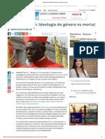 Cardenal Sarah_ Ideología de Género Es Mortal y Demoniaca