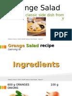 1  orange salad