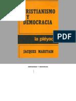 Maritain, Jacques - Cristianismo y Democracia
