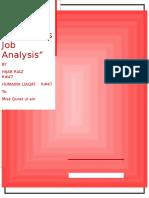 Job Analysis in Coke