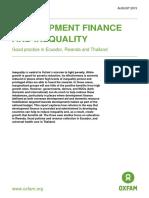 Development Finance and Inequality