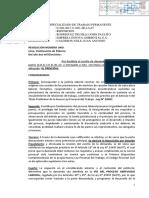 PODER JUDICIAL CONVOCA AUDIENCIA UNICA POR DESPIDO ANTISINDICAL DE JUAN CALDERON NOLE