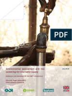 Environmental Assessment and Risk Screening for Rural Water Supply