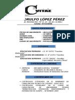 Curriculum Viate Lopez Perez Edrulfo