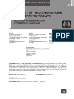 Análisis de Radio Propagación Con Antenas Microceldas