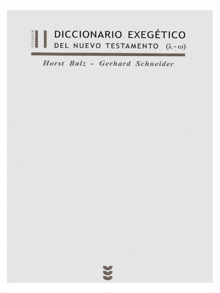 Horst Balz, Gerhard Schneider - Diccionario Exegetico NT.II.pdf