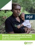 Women, Communities and Mining