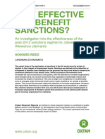 How Effective are Benefits Sanctions? An investigation into the effectiveness of the post-2012 sanctions regime for Jobseeker's Allowance claimants