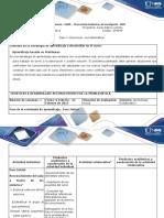 Guía de Actividades y Rúbrica de Evaluacion -Paso 1 - Reconocer La Problemática.