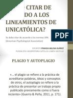 Realizar Bibliografias Normas APA UNICATOLICA
