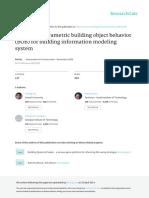 Specifying Parametric Building Object Behavior BOB