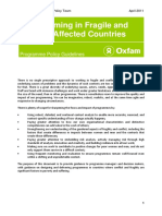 Programming in Fragile and Conflict-Affected Countries