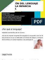 Adquisición Del Lenguaje Durante La Infancia Temprana