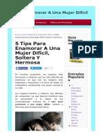 Tips Para Enamorar a Una Mujer Dificil.html