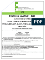 Prova Ifs 2015 Integrado