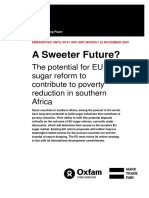 A Sweeter Future? The potential for EU sugar reform to contribute to poverty reduction in Southern Africa