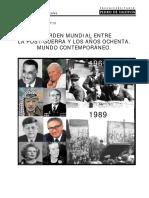 Mundo Contemporáneo entre la posguerra y años ochenta