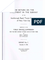 The Return On The Investment In The Subway Of The lnterborough Rapid Transit Company, 1908