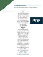 Canciones y Poesias a La Bandera Argentina