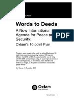 Words to Deeds