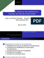 Estabilidad de Sistemas Termodinamicos